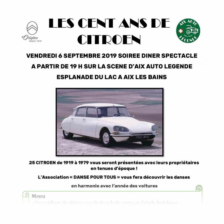 Plaquette Les 100 ans de Citroen sept 2019-preview